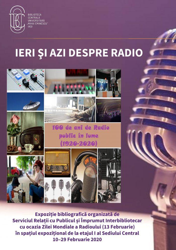 """Expoziția bibliografică """"Ieri și azi despre Radio. 100 de ani de Radio Public în lume"""" la BCU"""