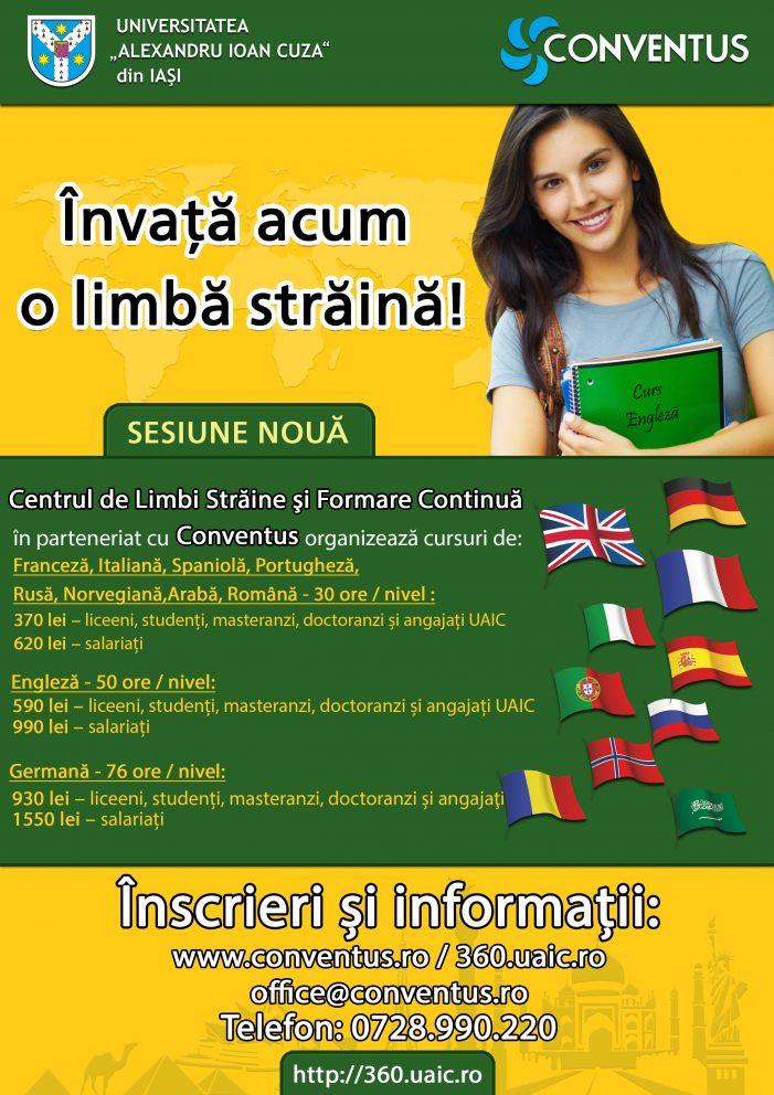 Prelungim înscrierile la noua sesiune a cursurilor de limbi străine până pe 13.03.2020