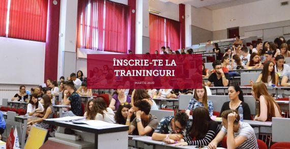Traininguri gratuite pentru studenții UAIC în martie 2020