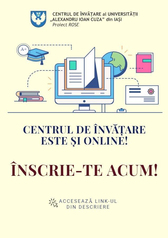 Centrul de Învățare al UAIC își continuă activitatea online
