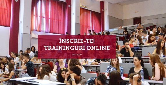 Traininguri online pentru studenți în Mai 2020