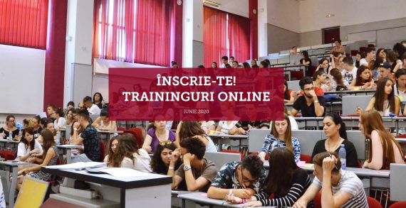 Traininguri online pentru studenți – Iunie 2020