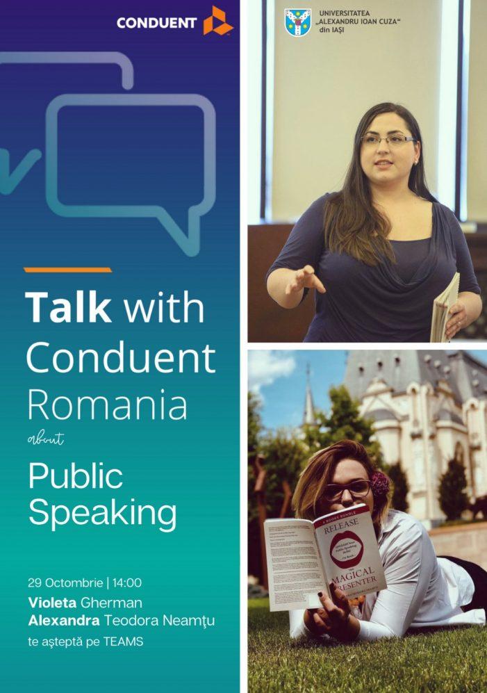 """""""Talk with Conduent Romania"""" – serie de traininguri pentru studenții UAIC"""