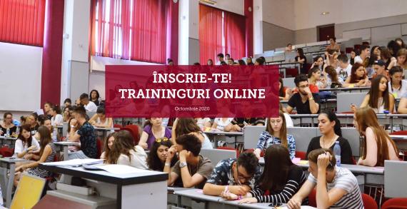 Traininguri online gratuite pentru studenți – Octombrie 2020