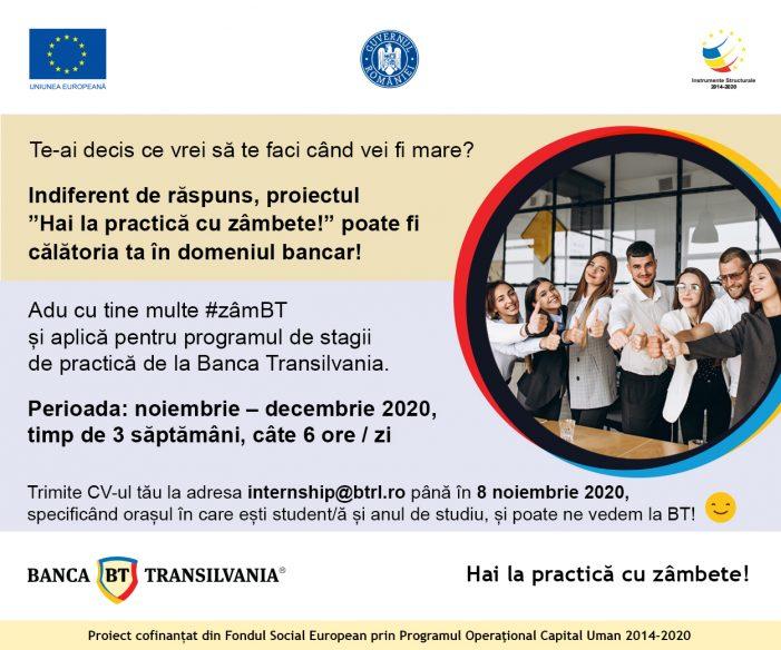 Stagii de practică la Banca Transilvania