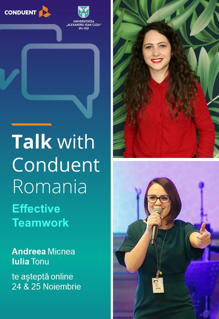 Noi training-uri online pentru studenții UAIC, livrate de Conduent Romania
