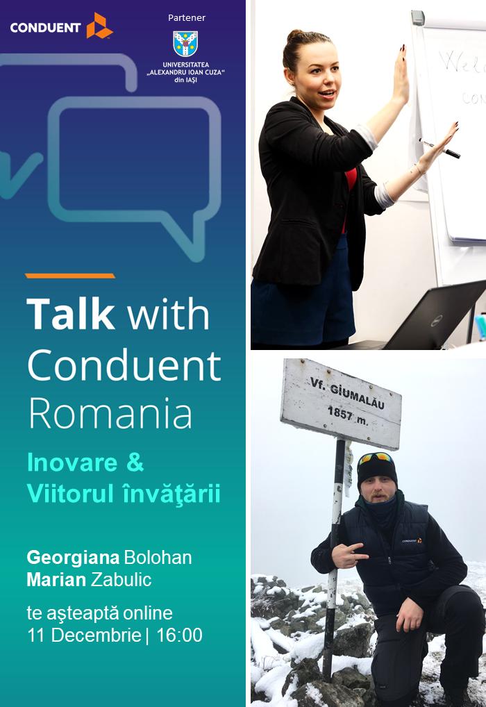 Training despre inovație și viitorul învățării, organizat de Conduent Romania pentru studenții UAIC