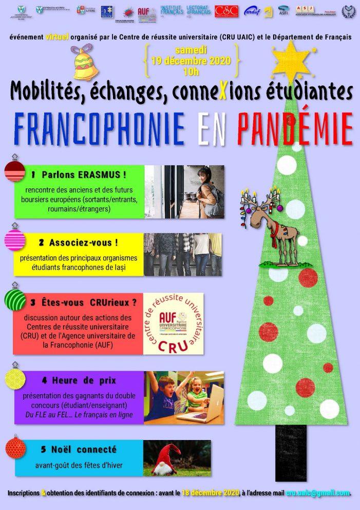 Masa rotundă: Mobilités, échanges et connexions étudiantes. Francophonie en pandémie
