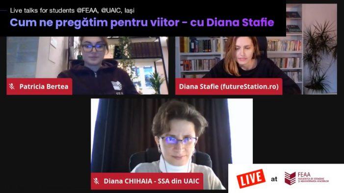 Despre competențe pentru viitor și profesii emergente pentru studenții UAIC Iași cu Diana Stafie – foresight strategist