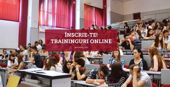 Traininguri online gratuite pentru studenți – Ianuarie 2021