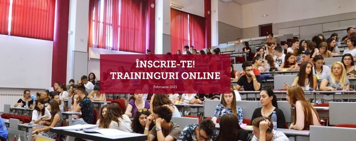 Traininguri online gratuite pentru studenți – Februarie 2021