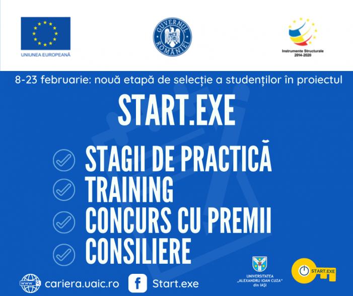 Proiectul START.EXE deschide o nouă etapă de selecție pentru studenți