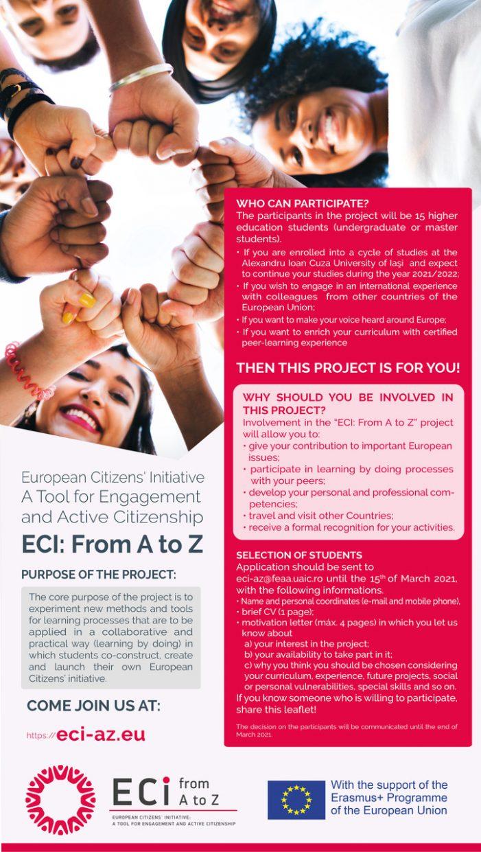 UAIC, partener în cadrul unui nou proiect Erasmus+