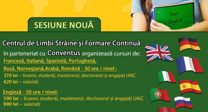 Noi cursuri de limbi străine la UAIC