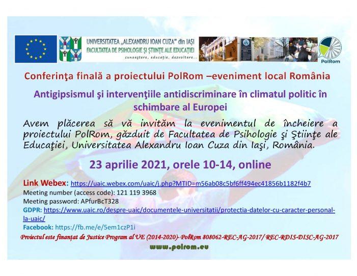 Conferința de încheiere a proiectului PolRom