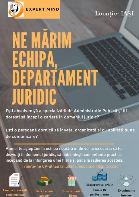 EXPERT MIND își extinde Departamentul Juridic