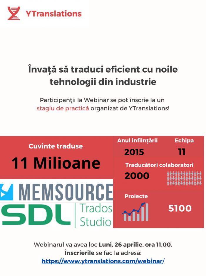Webinarii gratuite: Învață să traduci eficient cu noile tehnologii din industrie