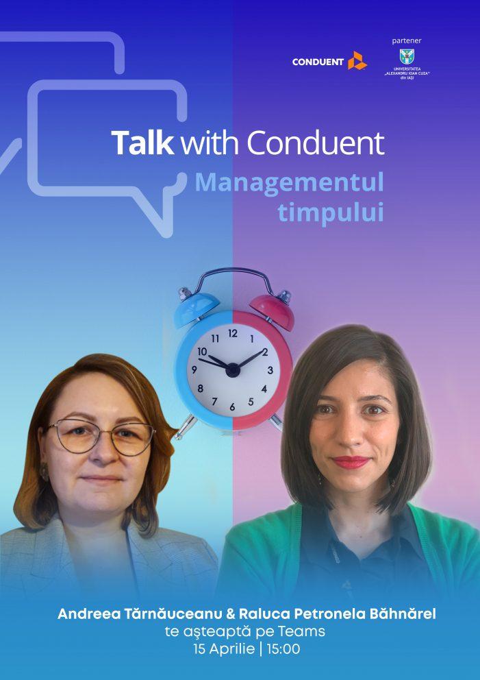 """""""Managementul timpului"""" – un nou training pentru studenți susținut de Conduent"""