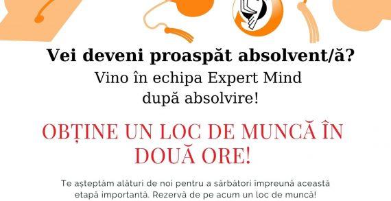 Expert Mind recrutează absolvenți pentru sediul din Iași