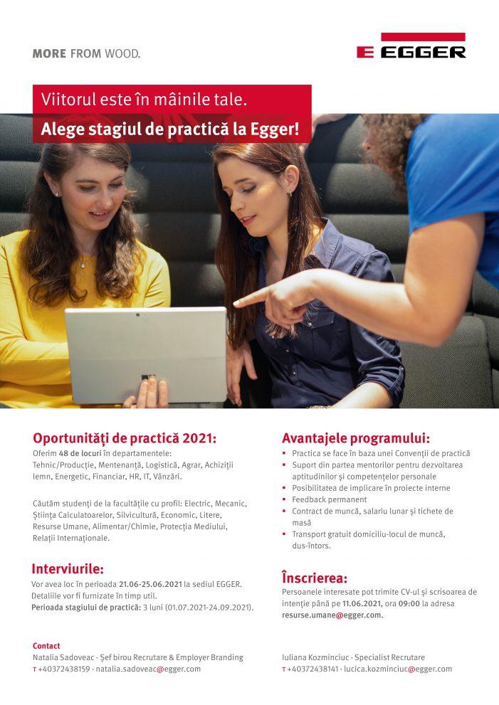Oportunități de practică în cadrul companiei EGGER România