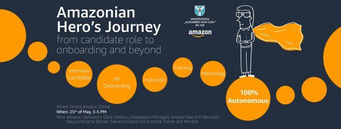 Un nou eveniment de carieră pentru studenții UAIC, în parteneriat cu Amazon Development Center
