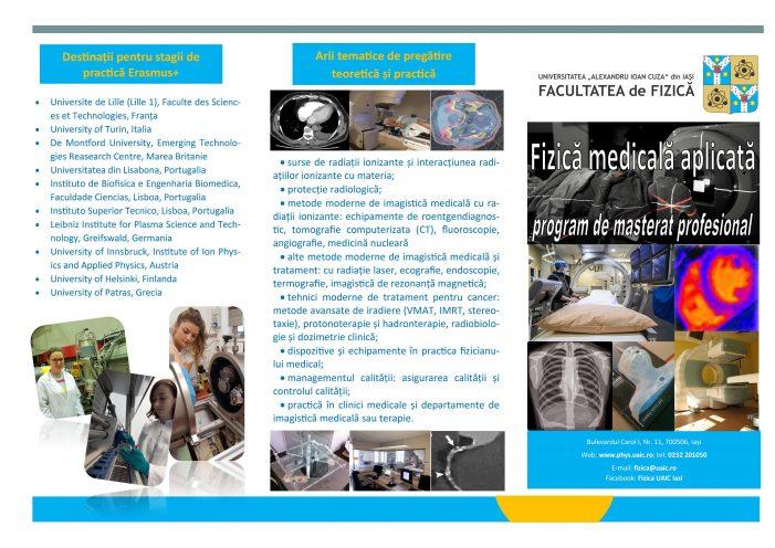 Eveniment de prezentare a programului de master Fizică Medicală Aplicată