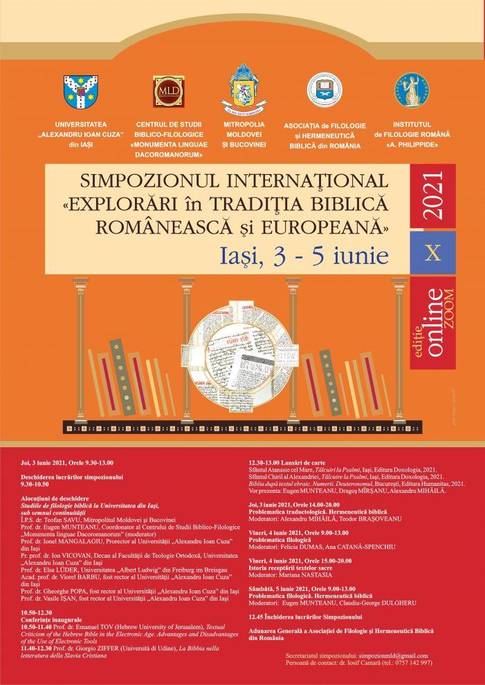 """Simpozionul Internațional """"Explorări în tradiţia biblică românească şi europeană"""", ediția a X-a"""