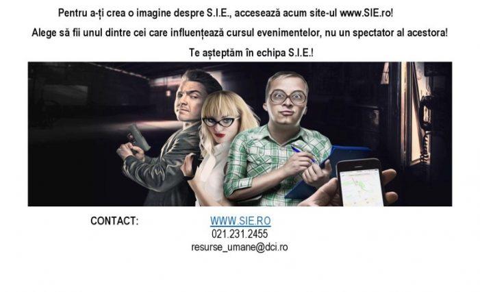 Serviciul de Informații Externe: alege să faci parte dintr-o echipă de elită în slujba României