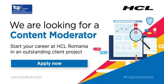 HCL România recrutează moderator de conținut web
