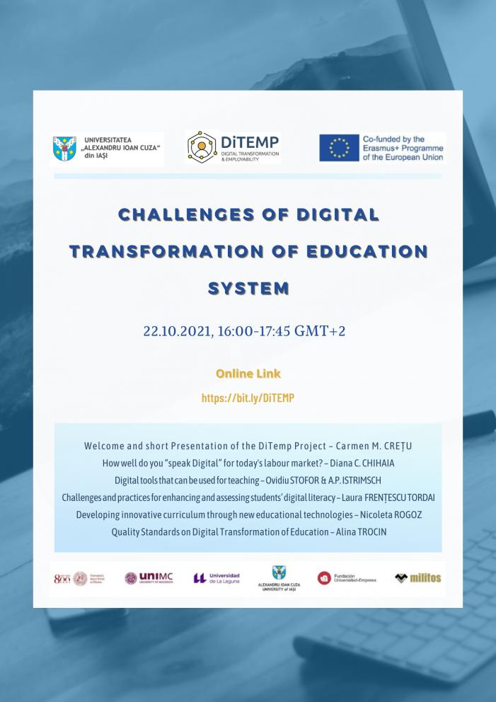 Provocări ale transformării digitale a sistemului de educație