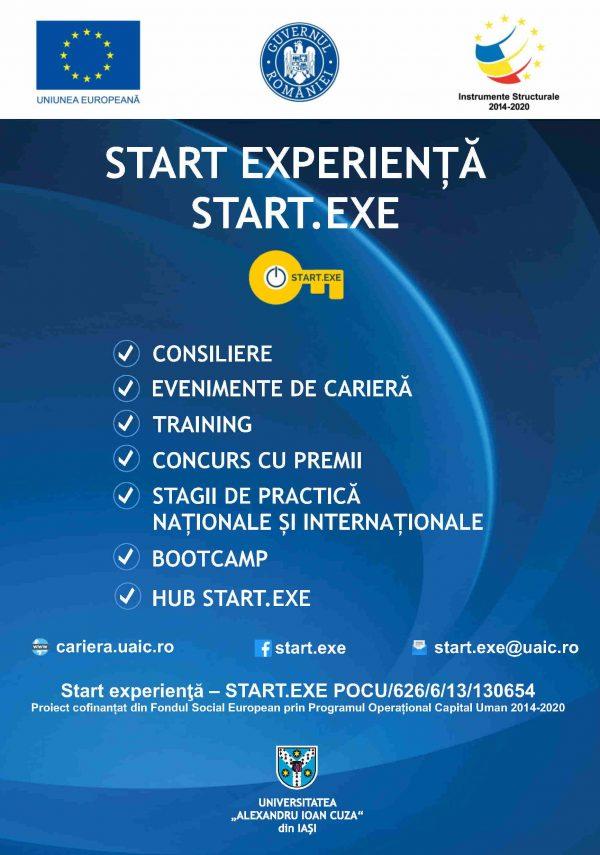 """Proiectul """"Start experienţă – START.EXE"""" a început înscrierea studenților în grupul țintă pentru anul II de proiect"""